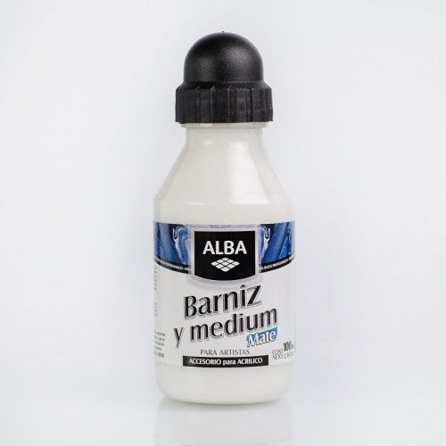 Barniz y Medium Alba Mate 100ml