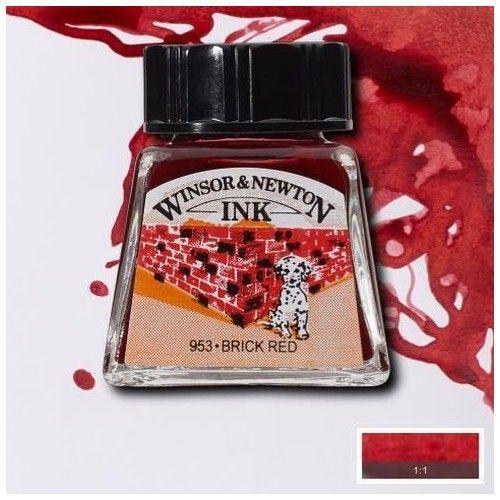 Tinta W&N rojo ladrillo
