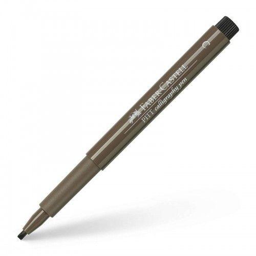 Marcador Calligraphy Faber Castell Marron nogal