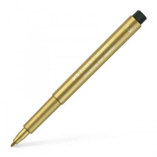 Marcador Metallic Faber Castell oro