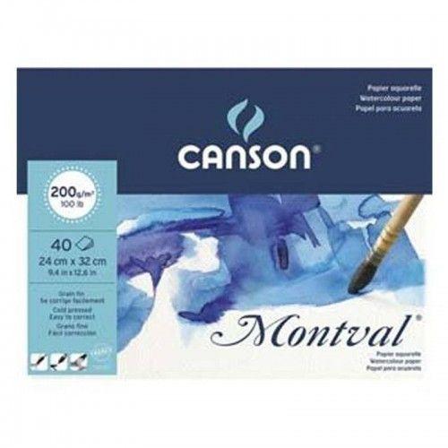 Block Canson Montval 24x32cm 200grs 40hjs