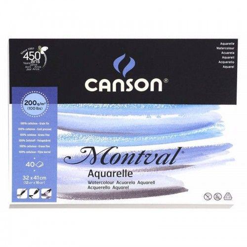 Block Canson Montval 32x41cm 200grs 40hjs