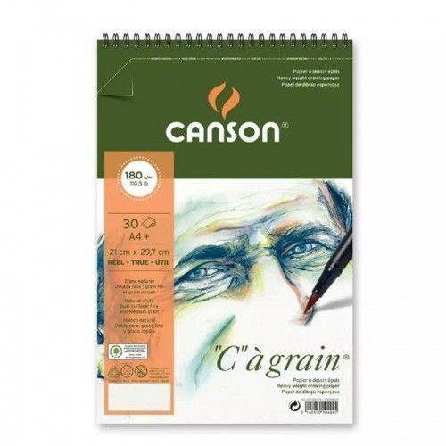 Block Canson C`a grain A4 180grs Espiralado