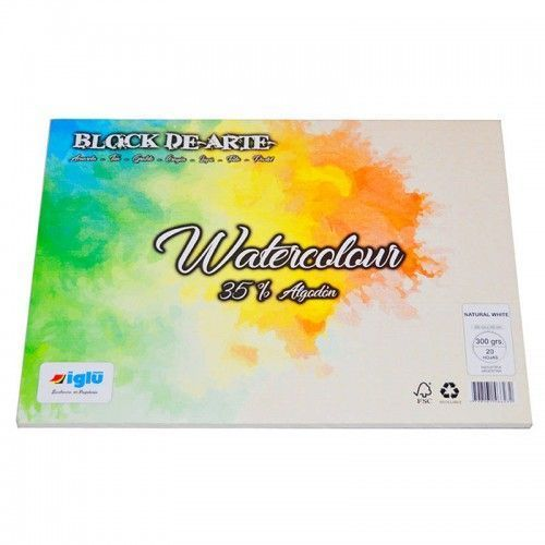 Block Watercolor Favini 300grs 25x35cm 35% de algodon