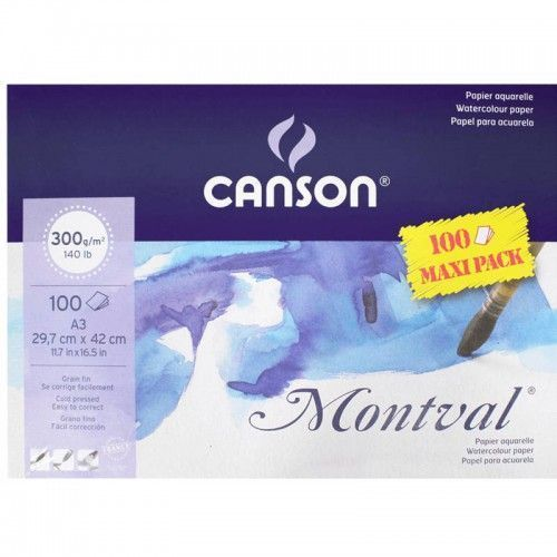Block Canson Montval 100 hojas A3 300grs