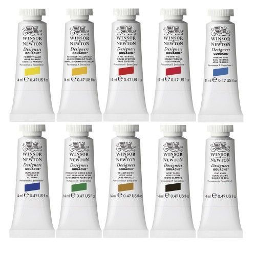 Set Gouache Winsor&Newton Set Intro