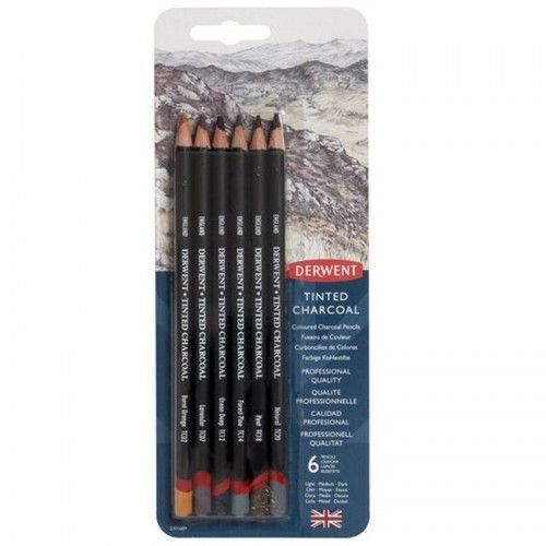 Lapices Derwent Tinted Charcoal 6 unidades