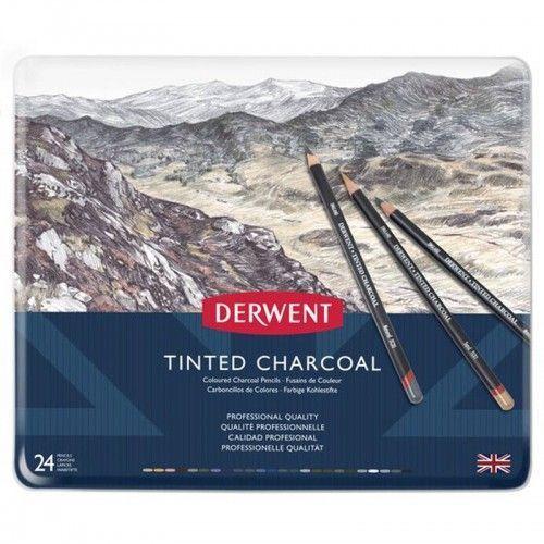 Tinted Charcoal Derwent 24 unidades