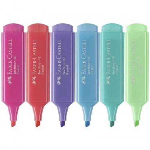 Resaltadores Pastel Faber Castell 6 unidades