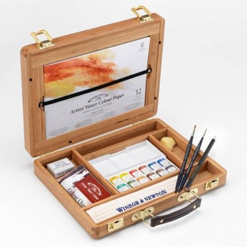 Estuche Bamboo W&N Artist´s Watercolor Half Pan