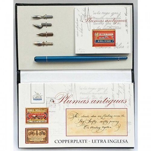 Plumas & Libretas Copperplate Letra Inglesa