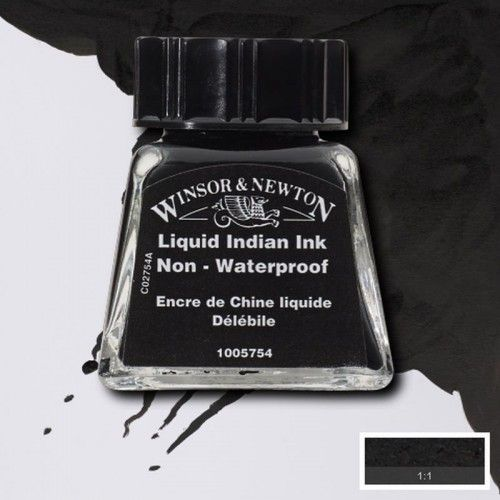 Tinta W&N indian Ink liquid