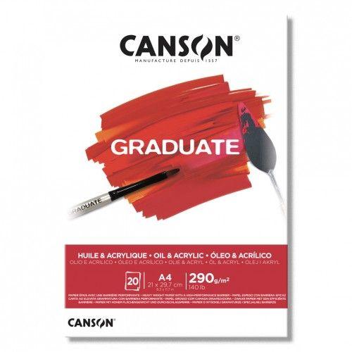 Block Canson Acrylic-Oleo 10hjs 290grs A4