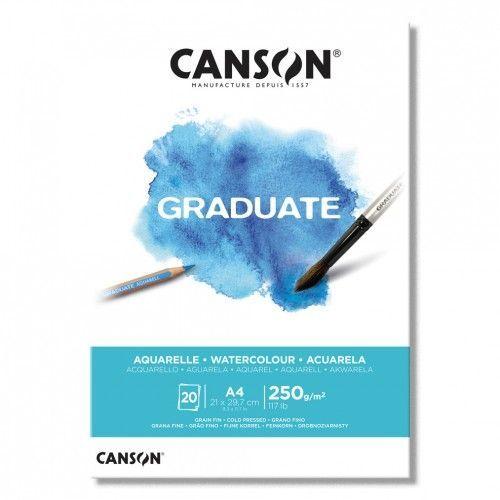 Block Canson Aquarelle A4 330grs 10hjs