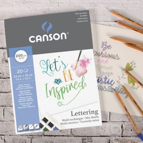 Block Canson Lettering Mix Media 200grs