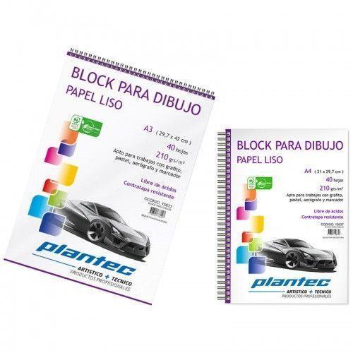 Block Plantec Liso 210grs A4 anillado superior