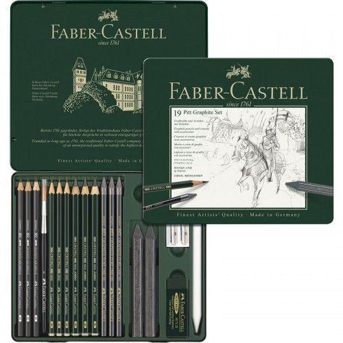 Estuche Monochromo Grafito Faber Castell 19 unidades