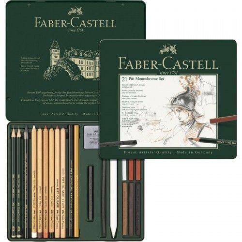 Estuche Pitt Monocromo Faber Castell 21 unidades