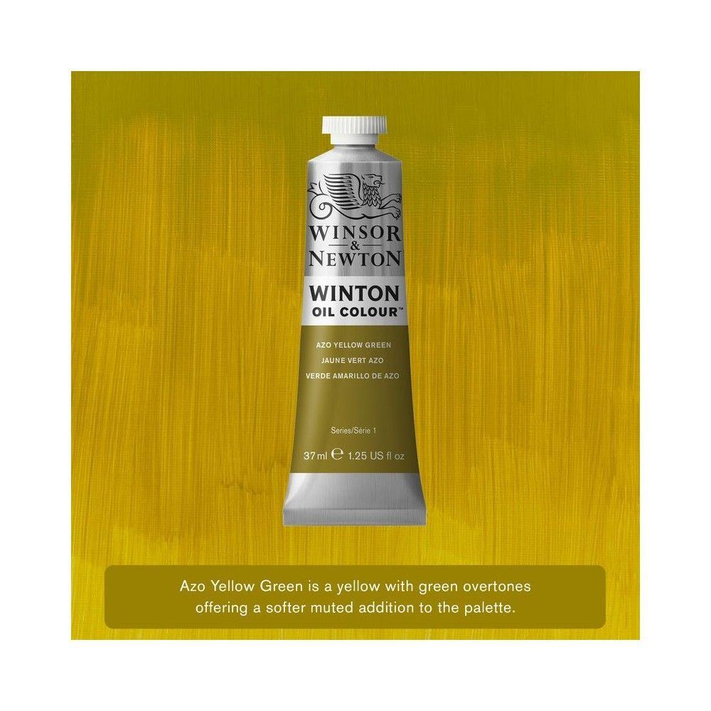 Oleo Winsor&Newton Verde Amarillo Azo 37ml