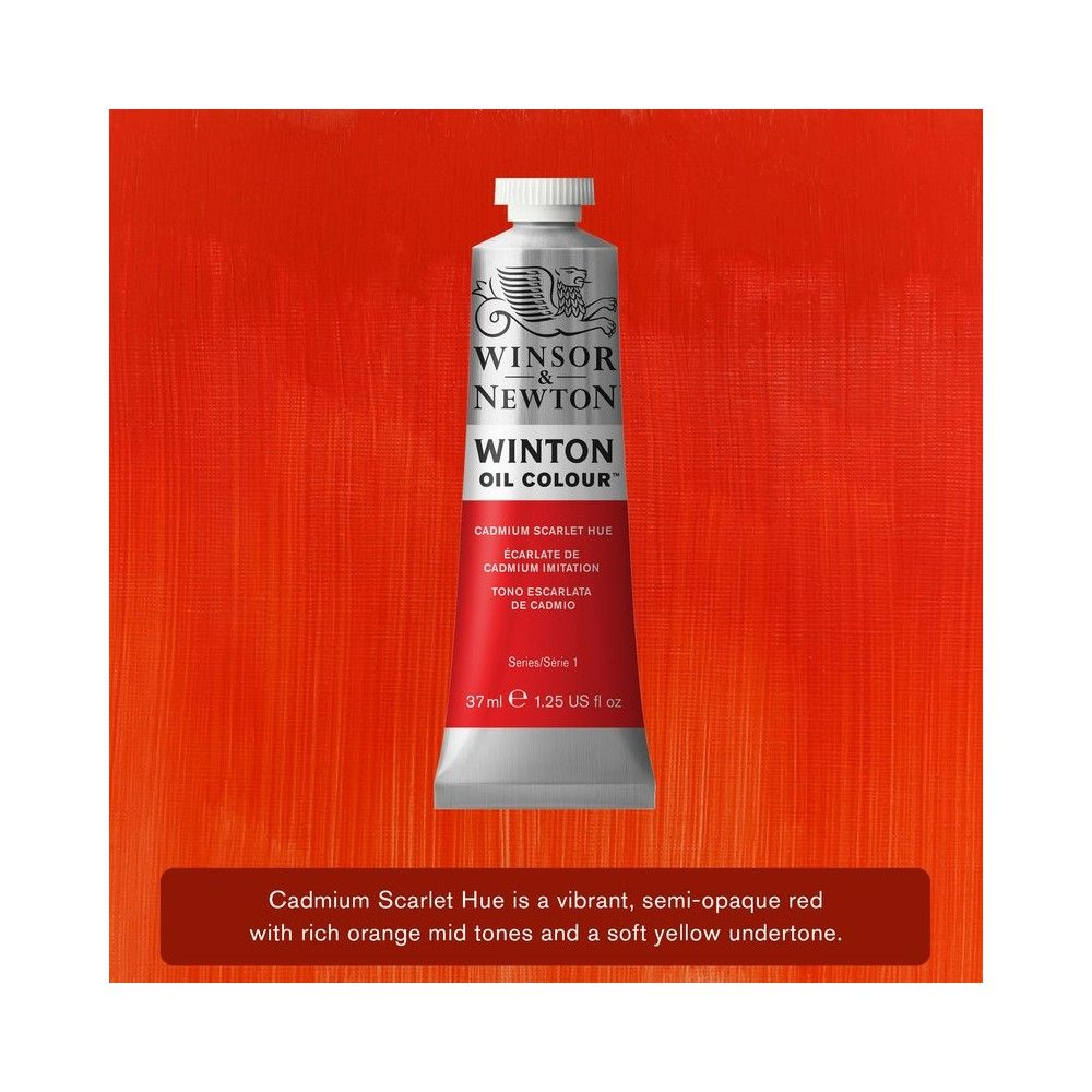 Oleo Winsor&Newton Escarlata de cadmio 37ml