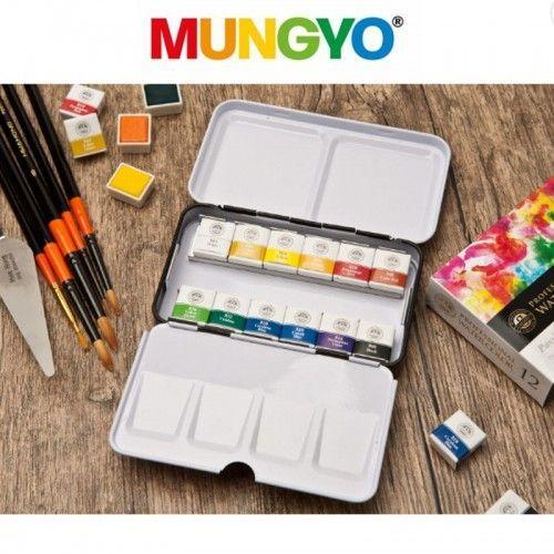 Acuarelas Mungyo pastillas 12 unidades