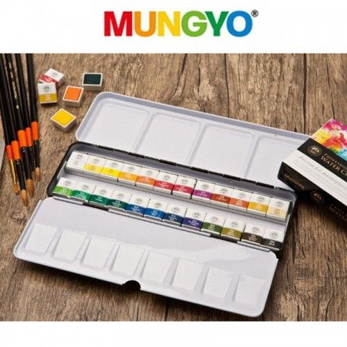 Acuarelas Mungyo pastillas 24 unidades