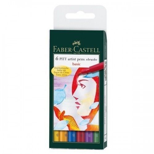 Marcador PITT artist pen Brush Basic x 6