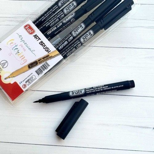 Marcador Art Brush Trabi negro 6 unidades