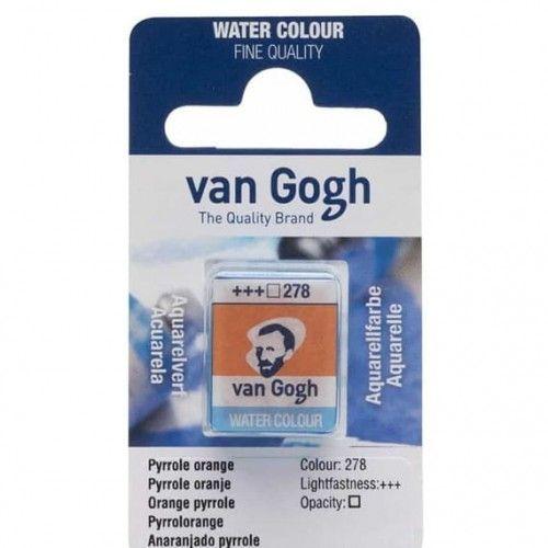 Acuarela en pastilla Van Gogh Anaranjado pyrrole