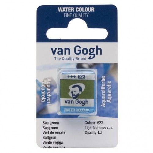 Acuarela en pastilla Van Gogh Verde vejiga