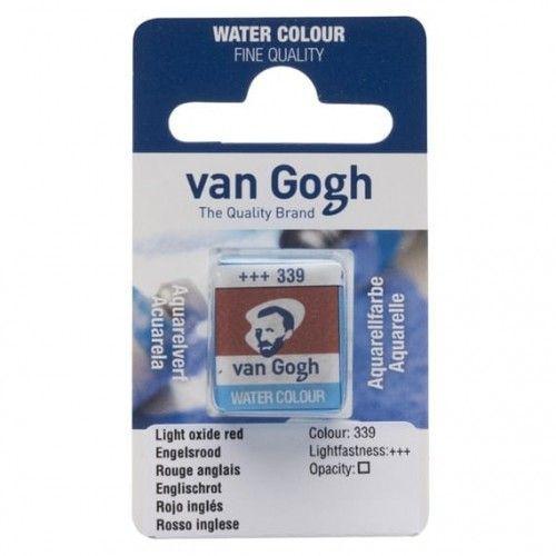 Acuarela en pastilla Van Gogh Rojo inglés