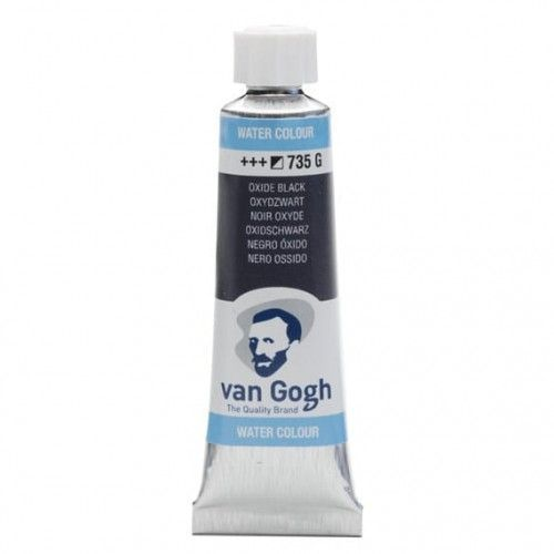 Acuarela Van Gogh Negro óxido