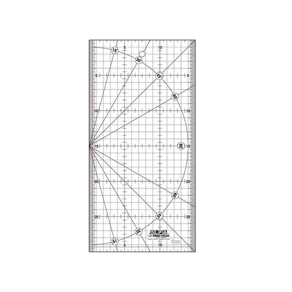 Regla acrílica MQR 15x30 Olfa