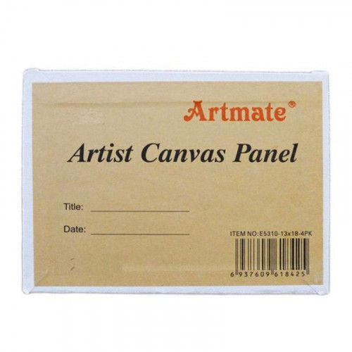 Pack 4 cartones entelados Artmate 18X24cm