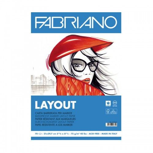 Block Layout Fabriano A4