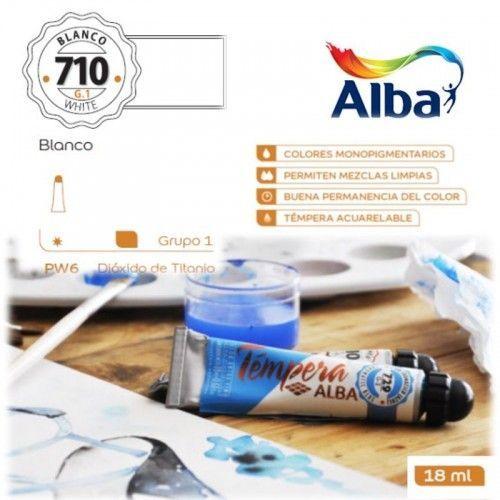 Témpera Profesional Alba Blanco Titanio 18ml G1