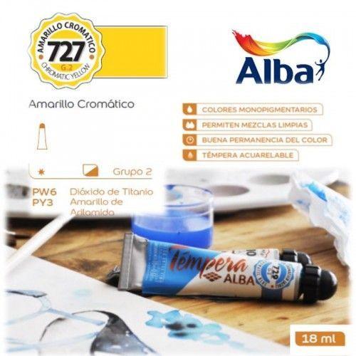Témpera Profesional Alba Amarillo Cromático 18ml G2