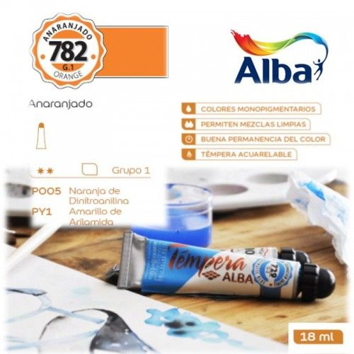 Témpera Profesional Alba Anaranjado 18ml G1