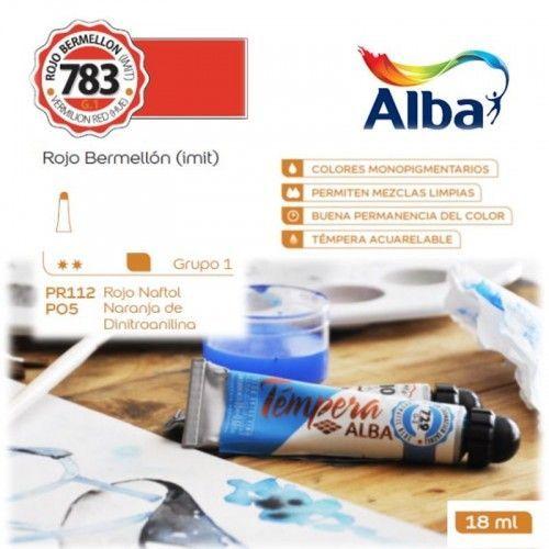Témpera Profesional Alba Rojo Bermellón (Imit) 18ml G1