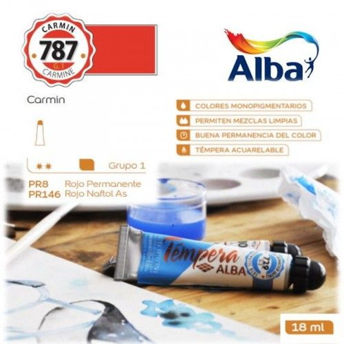 Témpera Profesional Alba Carmín 18ml G1