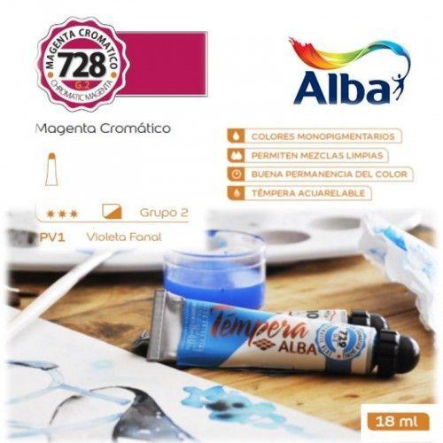 Témpera Profesional Alba Magenta Cromático 18ml G2