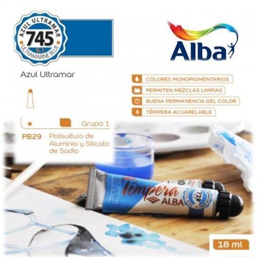 Témpera Profesional Alba Azul Ultramar 18ml G1