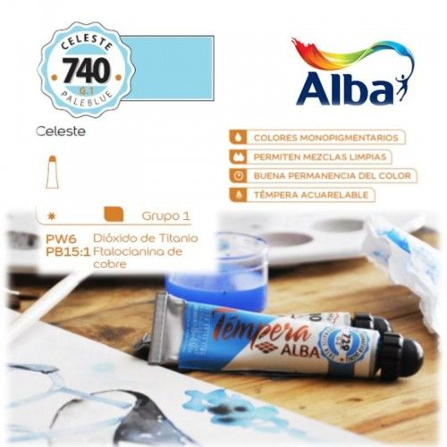 Témpera Profesional Alba Celeste 18ml G1
