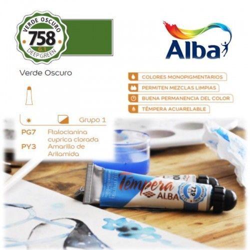 Témpera Profesional Alba Verde Oscuro 18ml G1