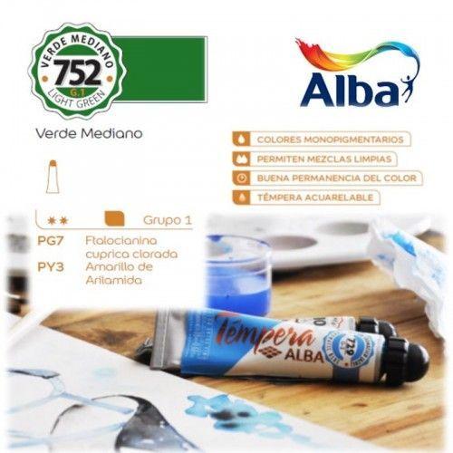 Témpera Profesional Alba Verde Mediano 18ml G1