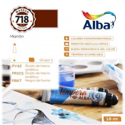 Témpera Profesional Alba Marrón 18ml G1