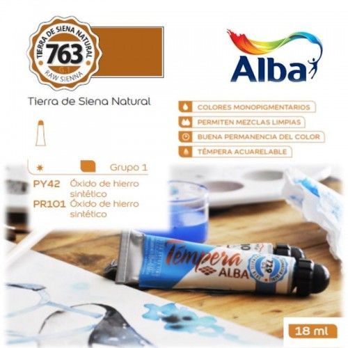 Témpera Profesional Alba Tierra de Siena Natural 18ml G1