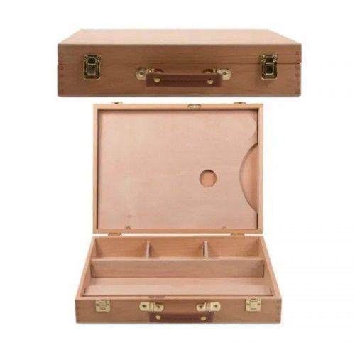 Caja de madera para pintor con paleta 32x24x7cm AHX5