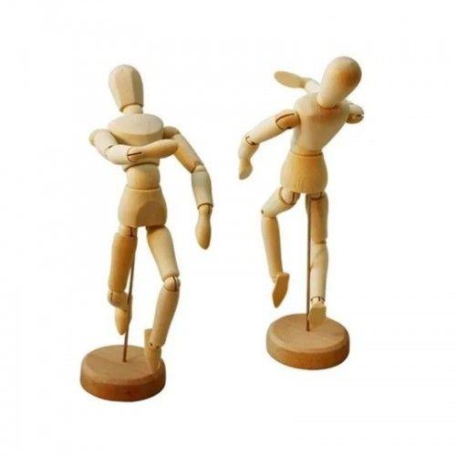 Muñeco articulado de madera 14cm