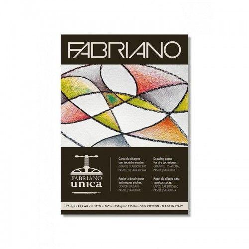 Block Fabriano Unica A4 blanco 250grs